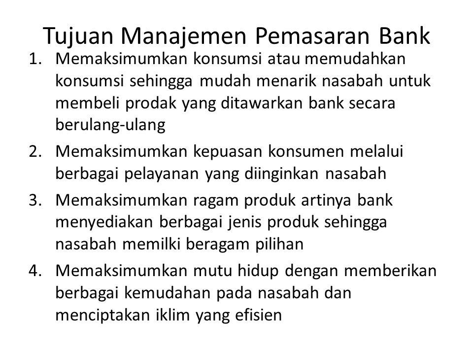 Tujuan Manajemen Pemasaran Bank