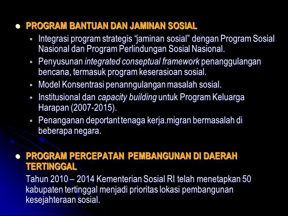 PROGRAM BANTUAN DAN JAMINAN SOSIAL