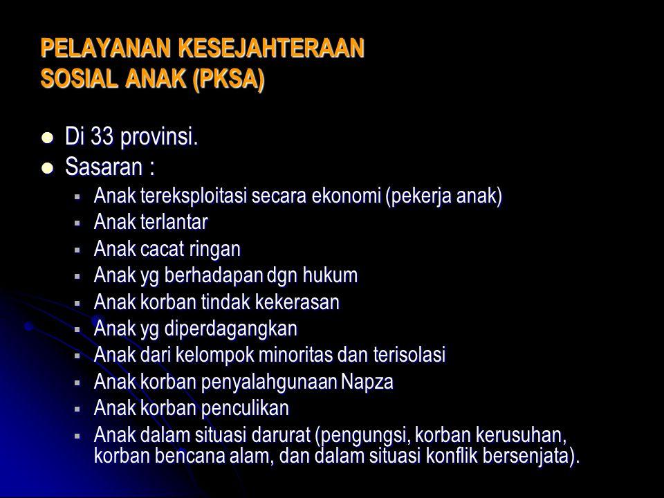 PELAYANAN KESEJAHTERAAN SOSIAL ANAK (PKSA)