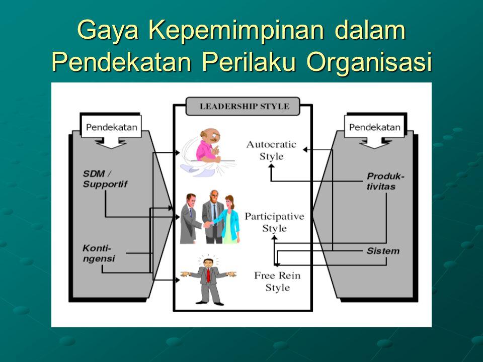 Gaya Kepemimpinan dalam Pendekatan Perilaku Organisasi