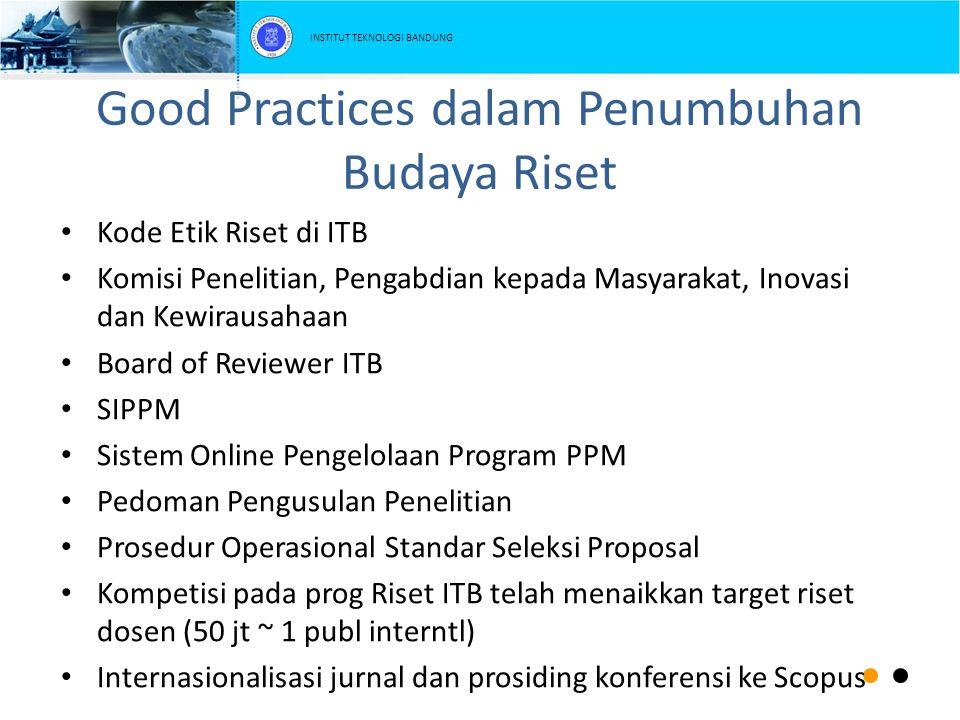 Good Practices dalam Penumbuhan Budaya Riset