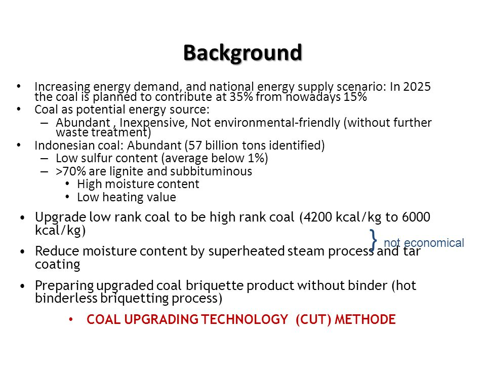COAL UPGRADING TECHNOLOGY (CUT) METHODE