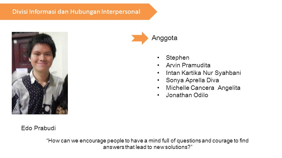 Divisi Informasi dan Hubungan Interpersonal