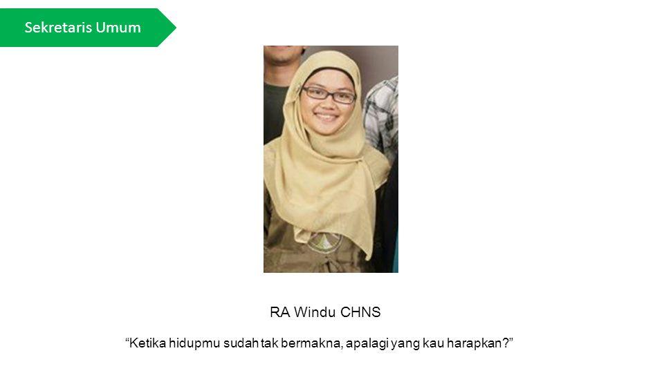 Sekretaris Umum RA Windu CHNS