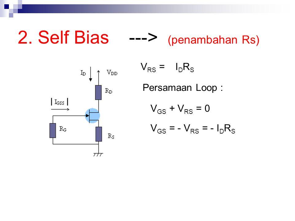 2. Self Bias ---> (penambahan Rs)