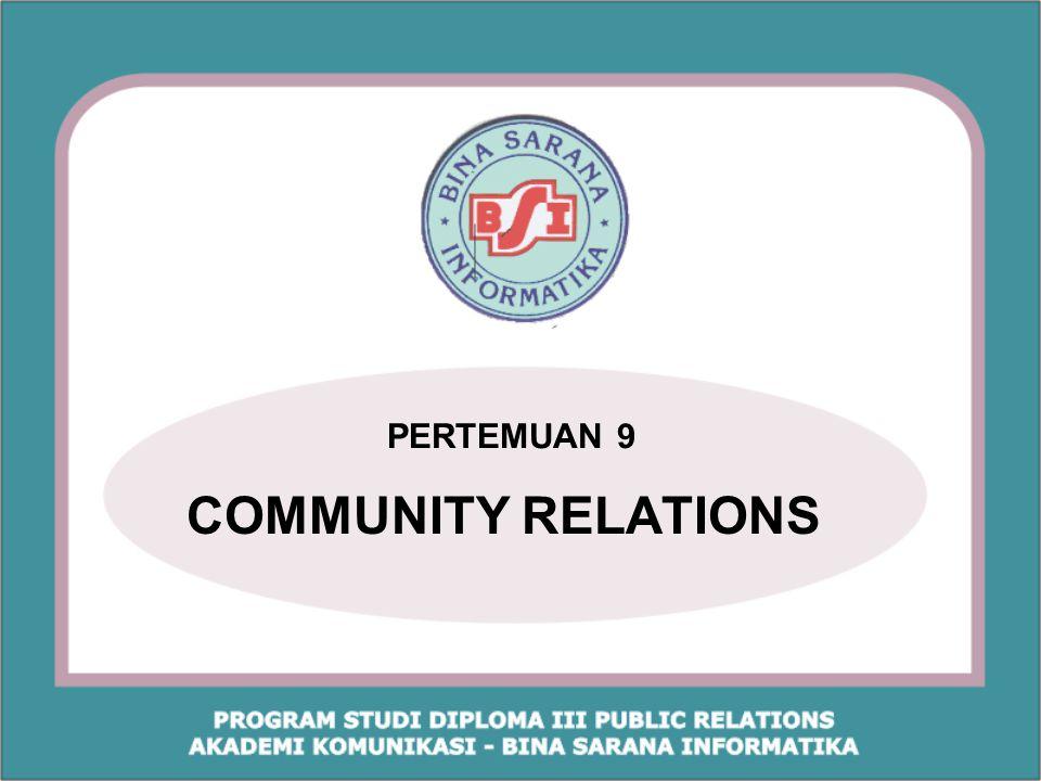 PERTEMUAN 9 COMMUNITY RELATIONS