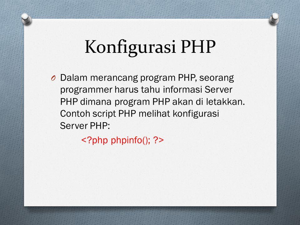 Konfigurasi PHP
