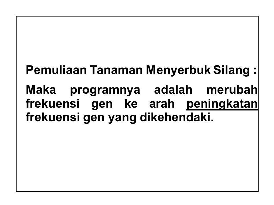 Pemuliaan Tanaman Menyerbuk Silang :