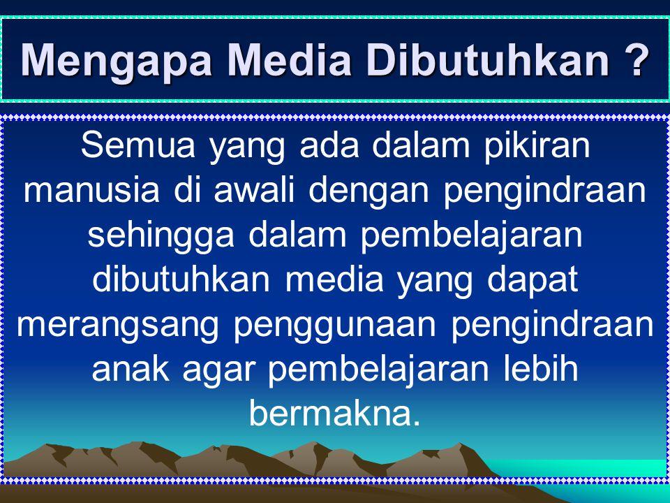 Mengapa Media Dibutuhkan
