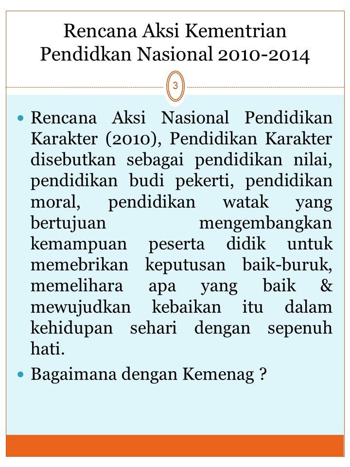 Rencana Aksi Kementrian Pendidkan Nasional 2010-2014