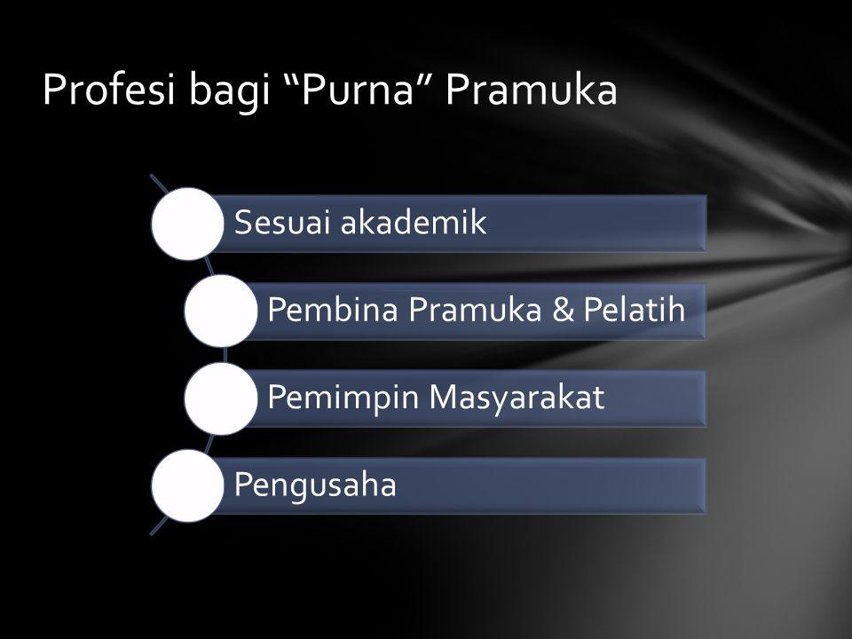 Profesi bagi Purna Pramuka