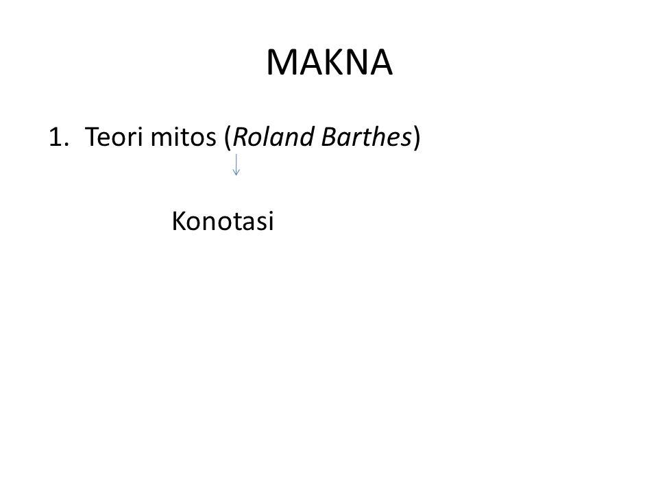 MAKNA Teori mitos (Roland Barthes) Konotasi