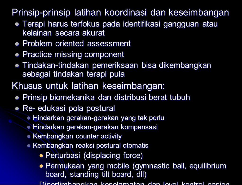 Prinsip-prinsip latihan koordinasi dan keseimbangan
