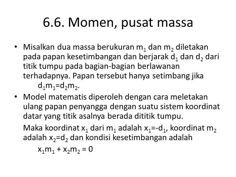 6.6. Momen, pusat massa