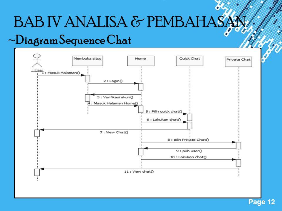 BAB IV ANALISA & PEMBAHASAN