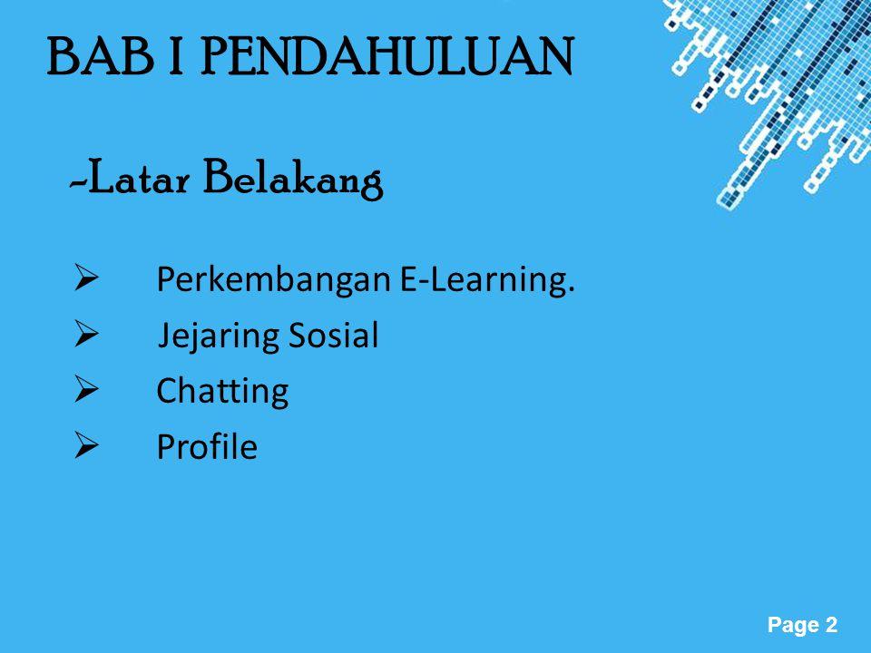 BAB I PENDAHULUAN -Latar Belakang Perkembangan E-Learning.