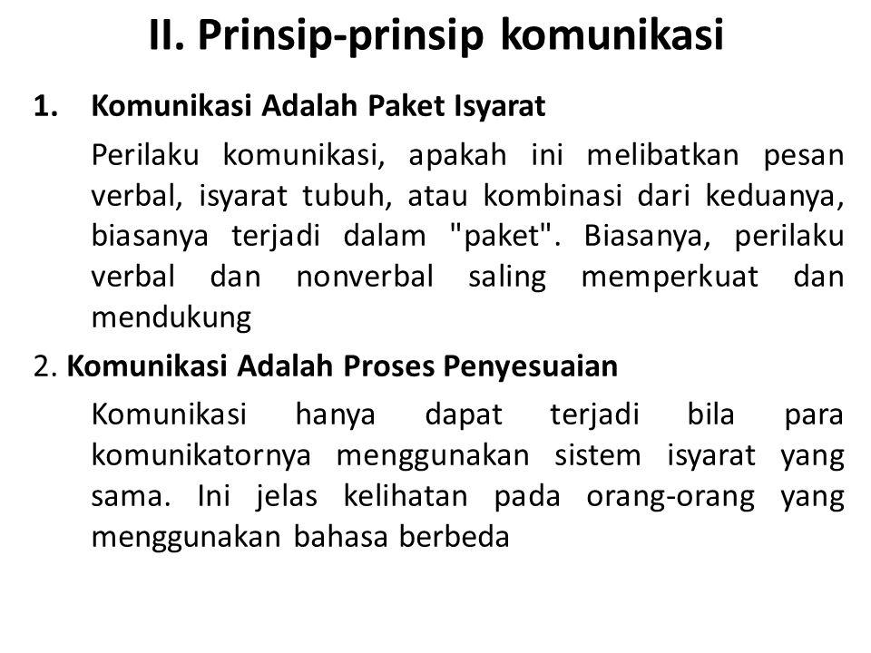 II. Prinsip-prinsip komunikasi