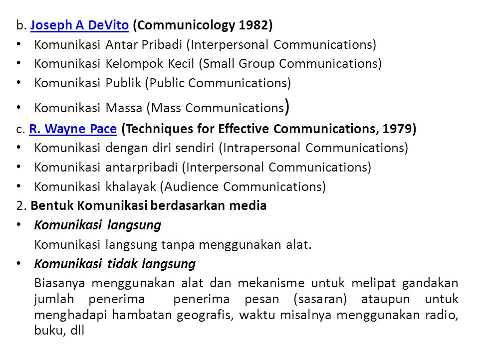 b. Joseph A DeVito (Communicology 1982)