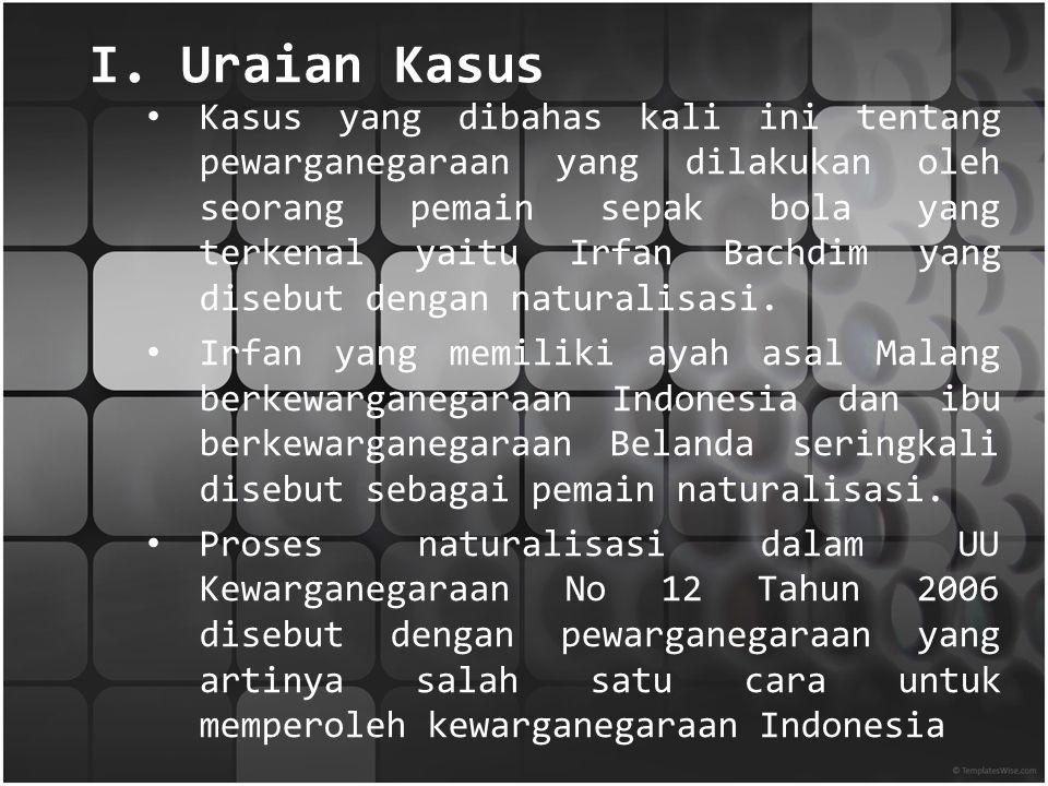 I. Uraian Kasus