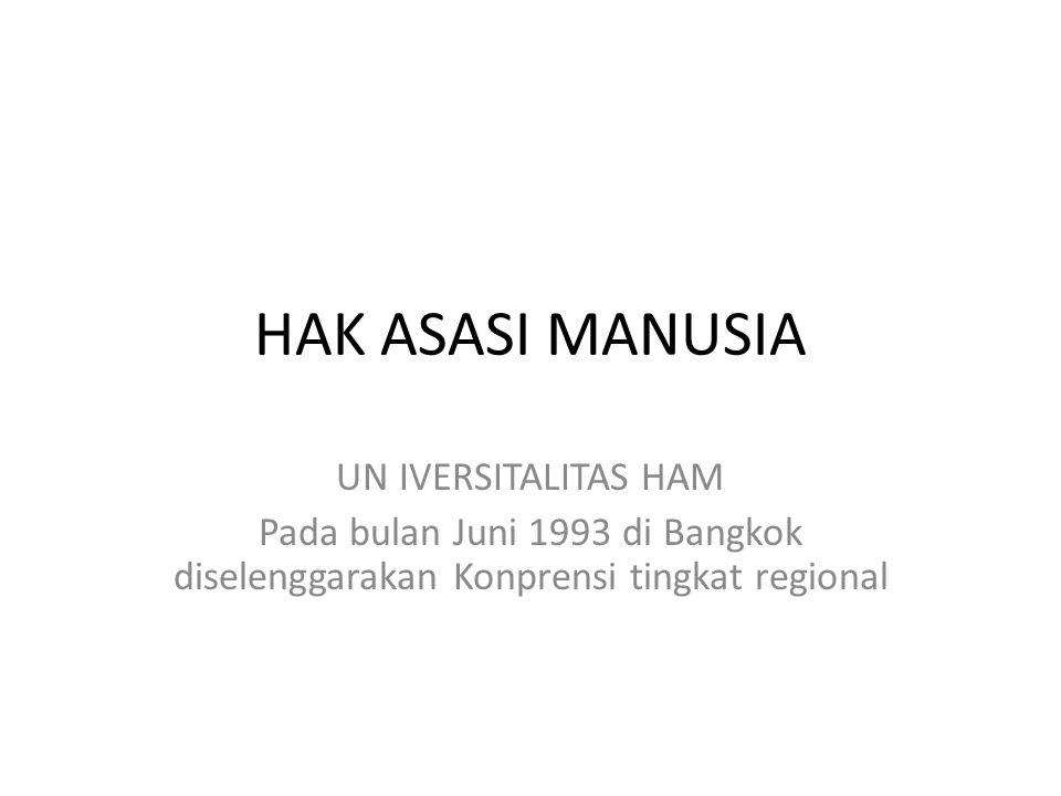 HAK ASASI MANUSIA UN IVERSITALITAS HAM