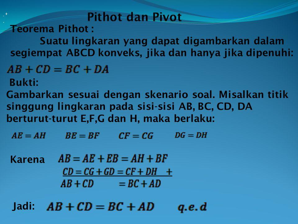 Pithot dan Pivot Teorema Pithot :