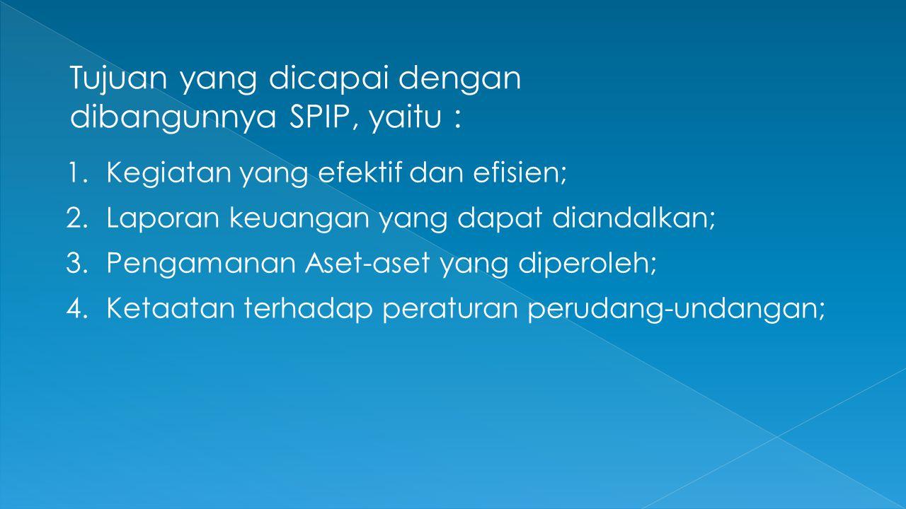 Tujuan yang dicapai dengan dibangunnya SPIP, yaitu :