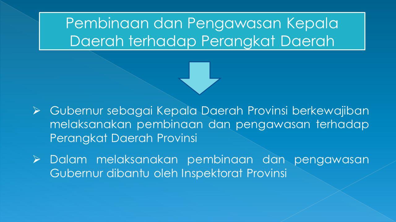 Pembinaan dan Pengawasan Kepala Daerah terhadap Perangkat Daerah