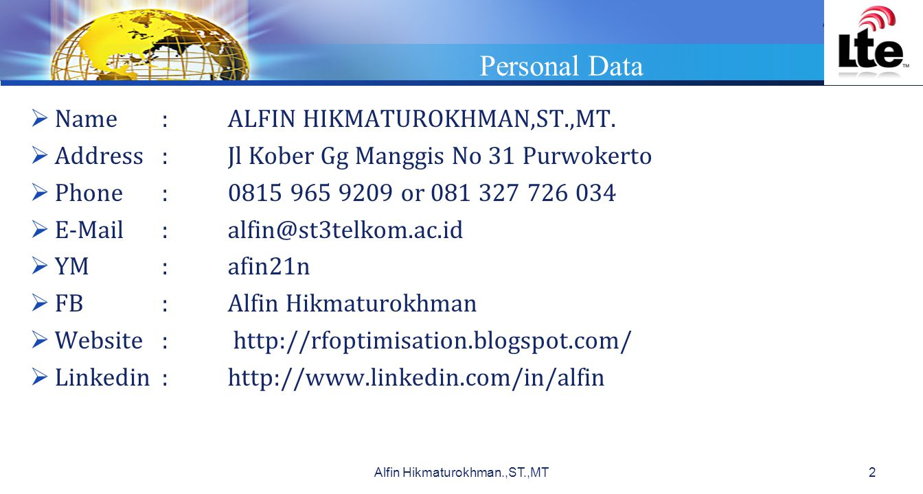 Alfin Hikmaturokhman.,ST.,MT