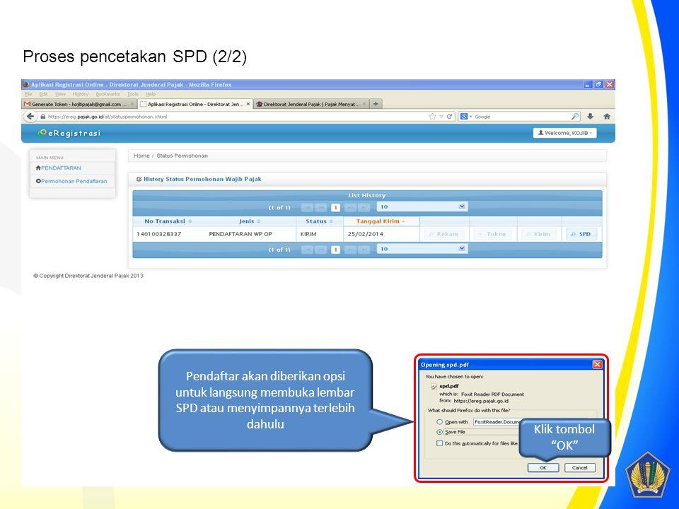 Proses pencetakan SPD (2/2)