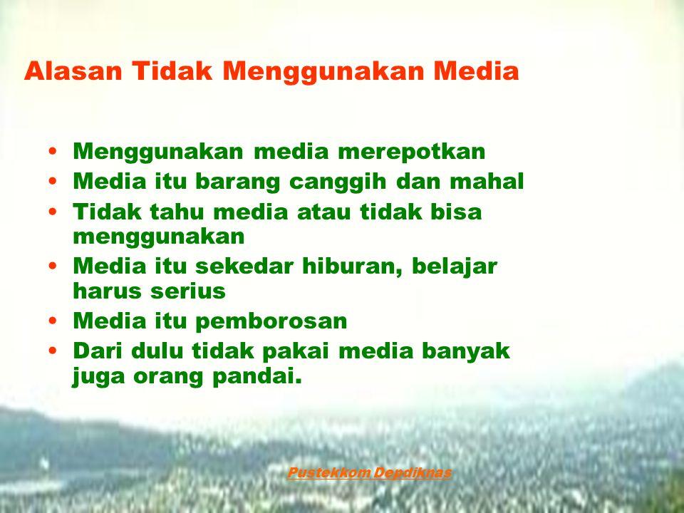 Alasan Tidak Menggunakan Media