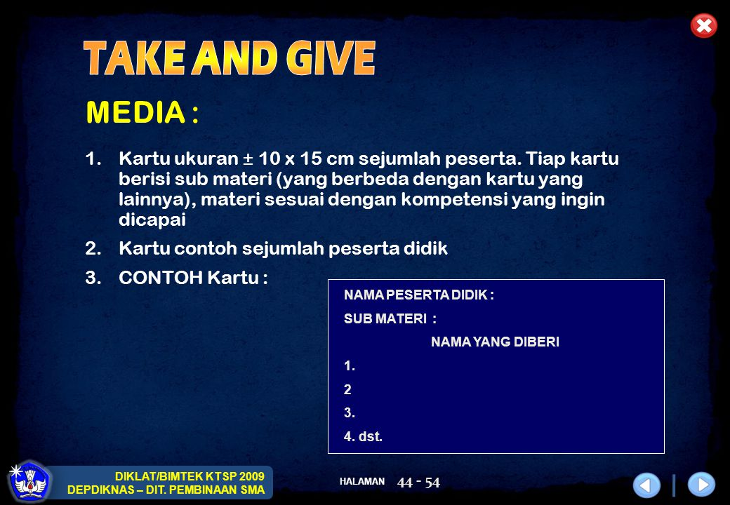 TAKE AND GIVE MEDIA :