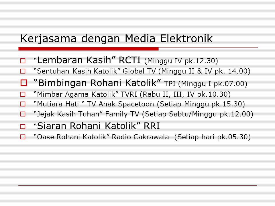 Kerjasama dengan Media Elektronik