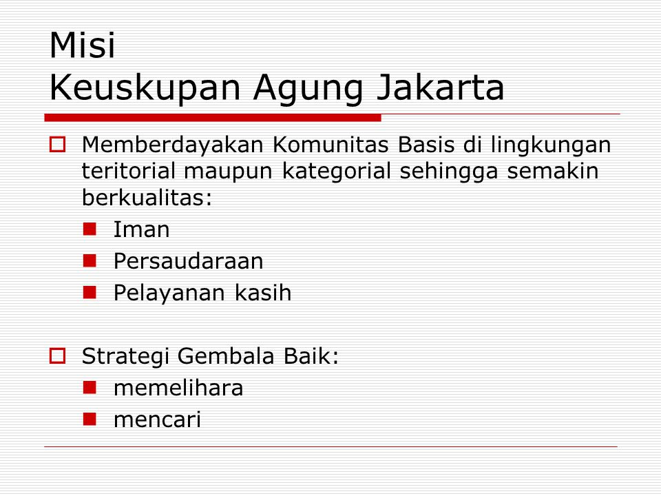 Misi Keuskupan Agung Jakarta