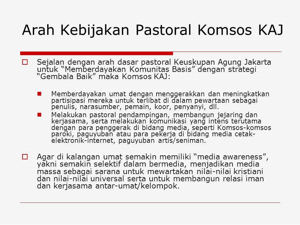 Arah Kebijakan Pastoral Komsos KAJ