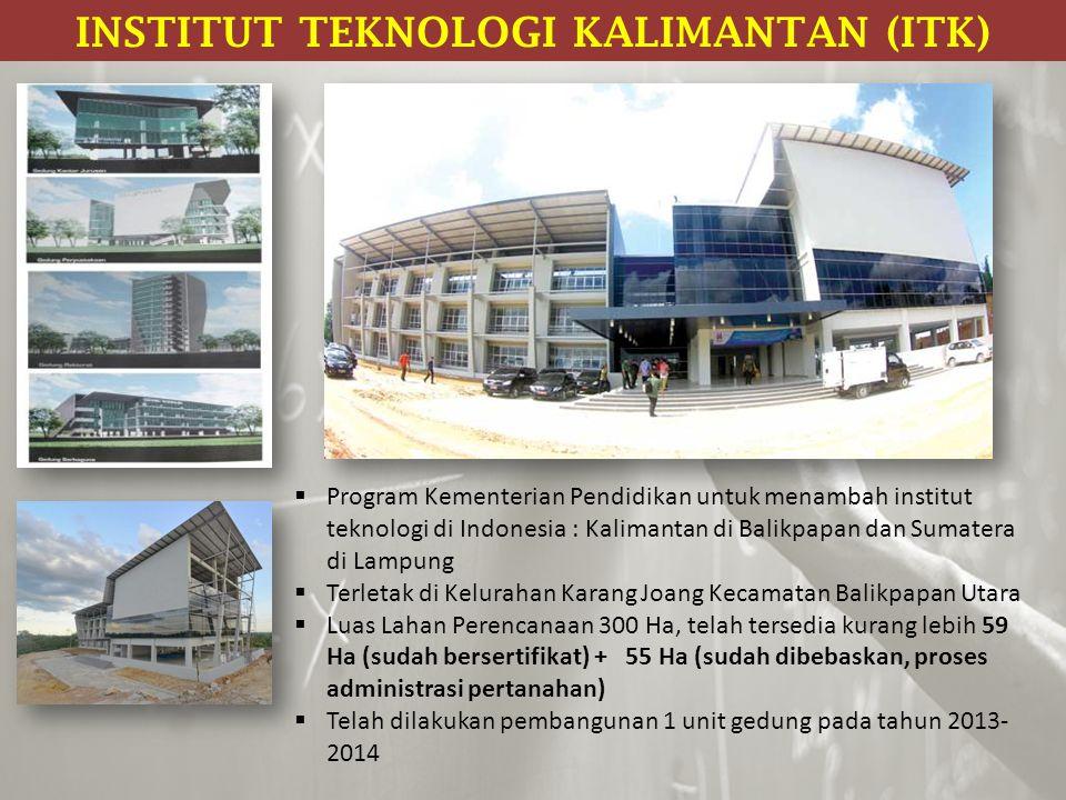 INSTITUT TEKNOLOGI KALIMANTAN (ITK)