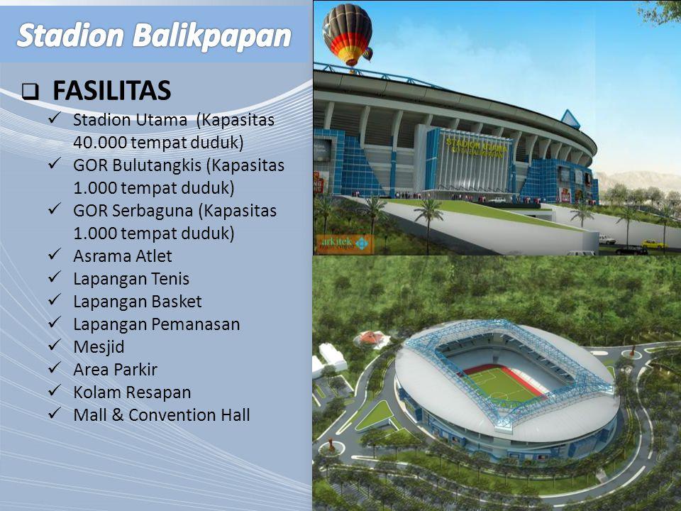 Stadion Balikpapan FASILITAS