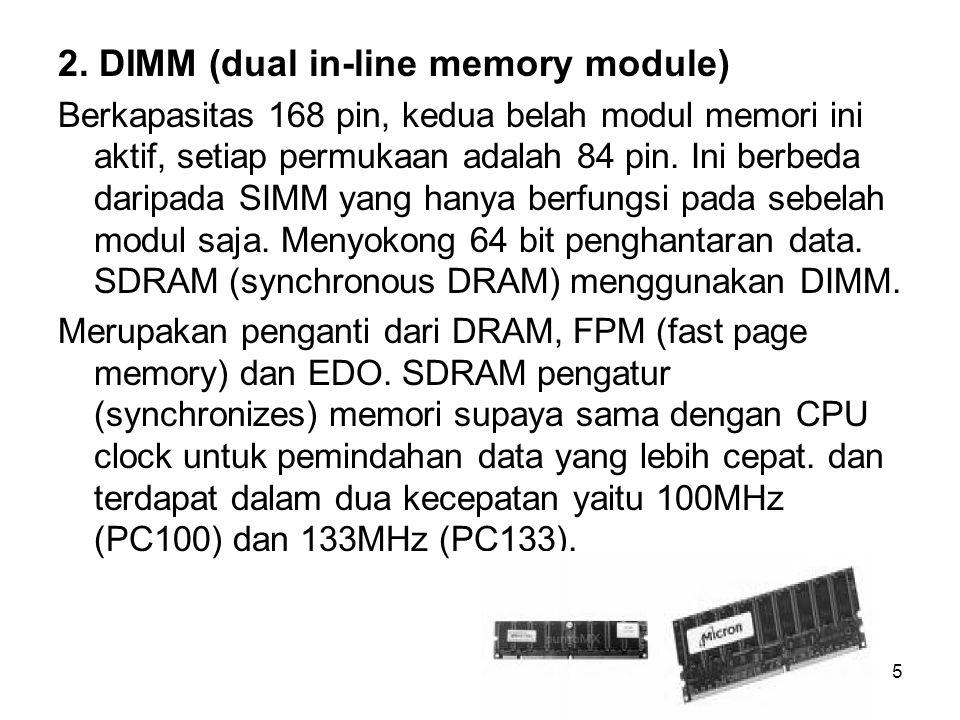 2. DIMM (dual in-line memory module)