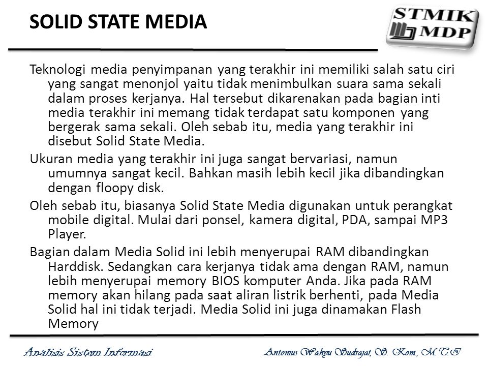 SOLID STATE MEDIA