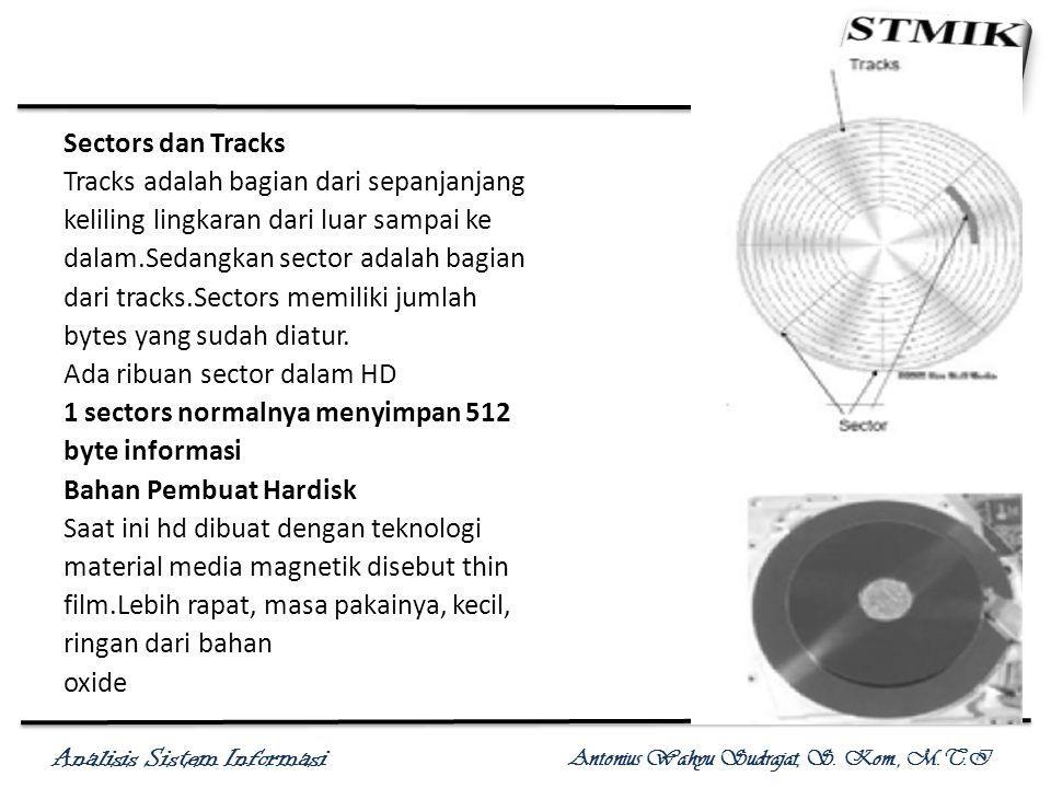 Sectors dan Tracks Tracks adalah bagian dari sepanjanjang. keliling lingkaran dari luar sampai ke.