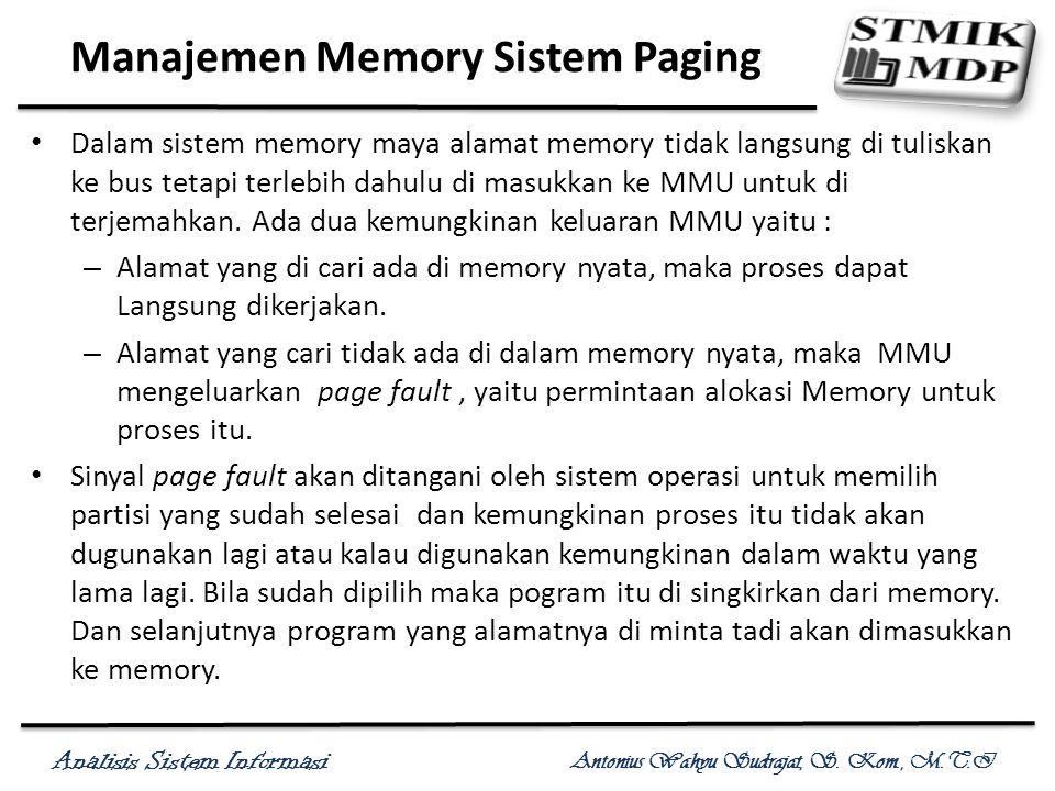 Manajemen Memory Sistem Paging