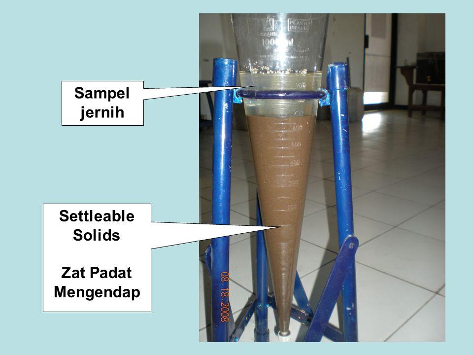Sampel jernih Settleable Solids Zat Padat Mengendap