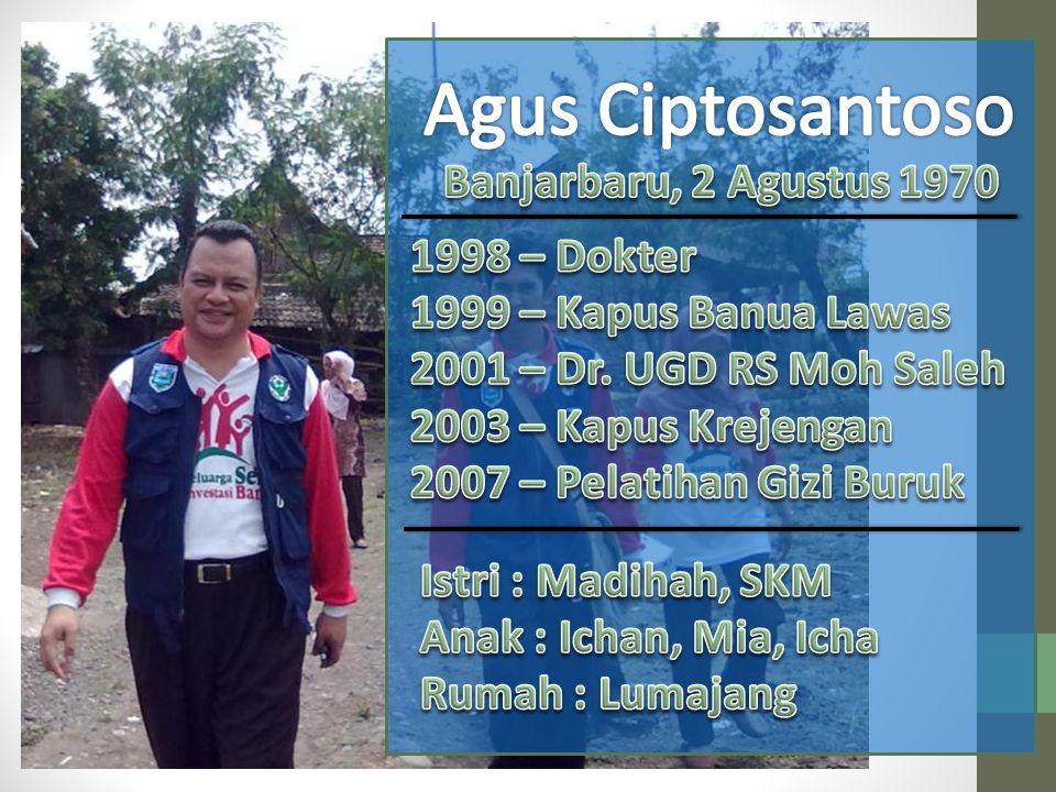 Agus Ciptosantoso Banjarbaru, 2 Agustus 1970 1998 – Dokter
