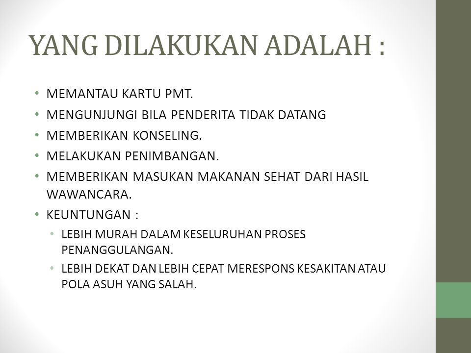 YANG DILAKUKAN ADALAH :