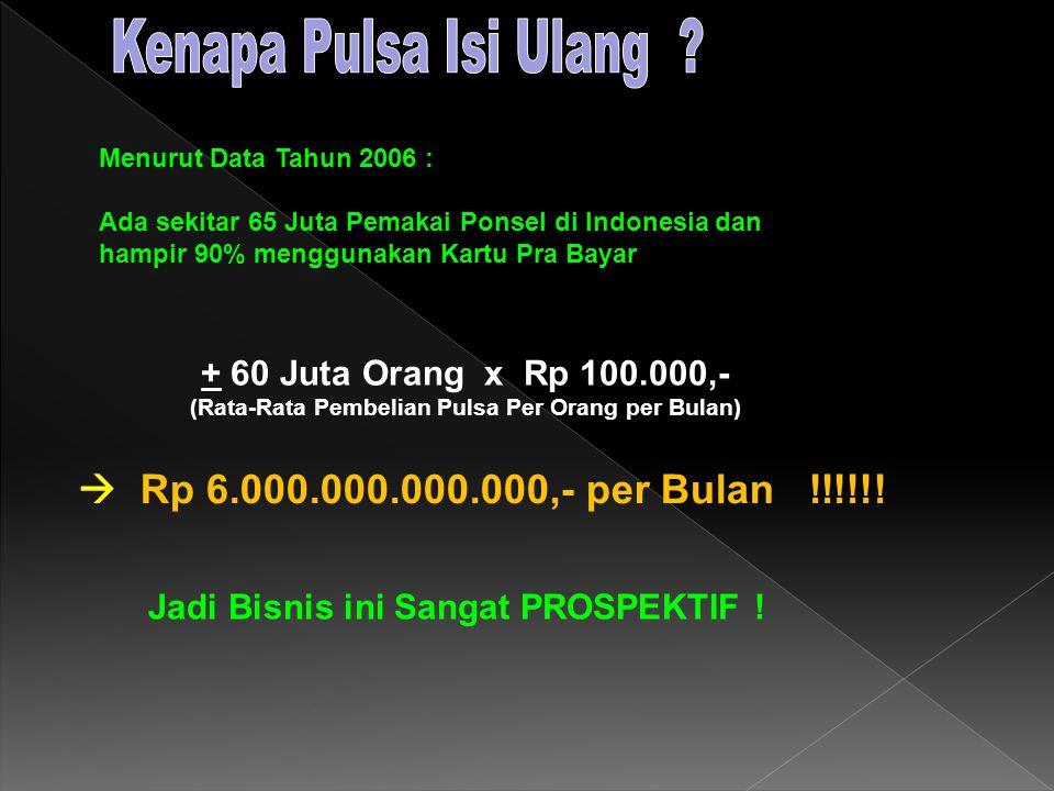 Kenapa Pulsa Isi Ulang  Rp 6.000.000.000.000,- per Bulan !!!!!!