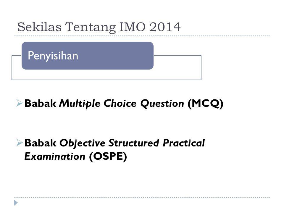 Sekilas Tentang IMO 2014 Penyisihan