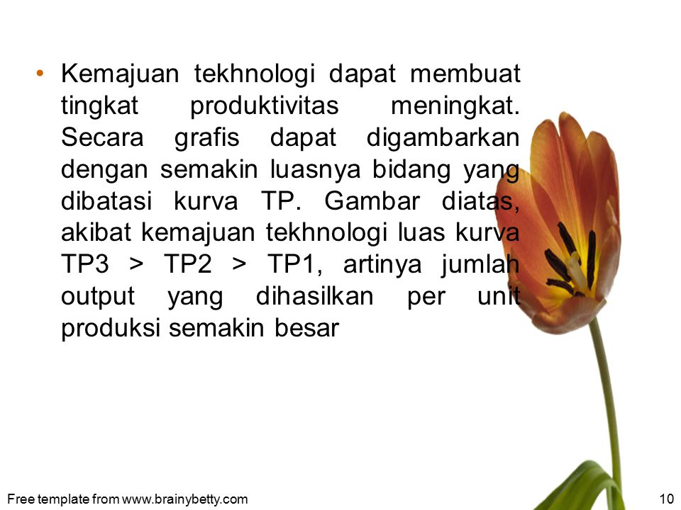 Kemajuan tekhnologi dapat membuat tingkat produktivitas meningkat