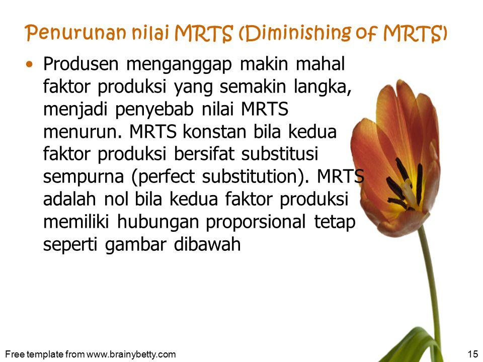 Penurunan nilai MRTS (Diminishing of MRTS)