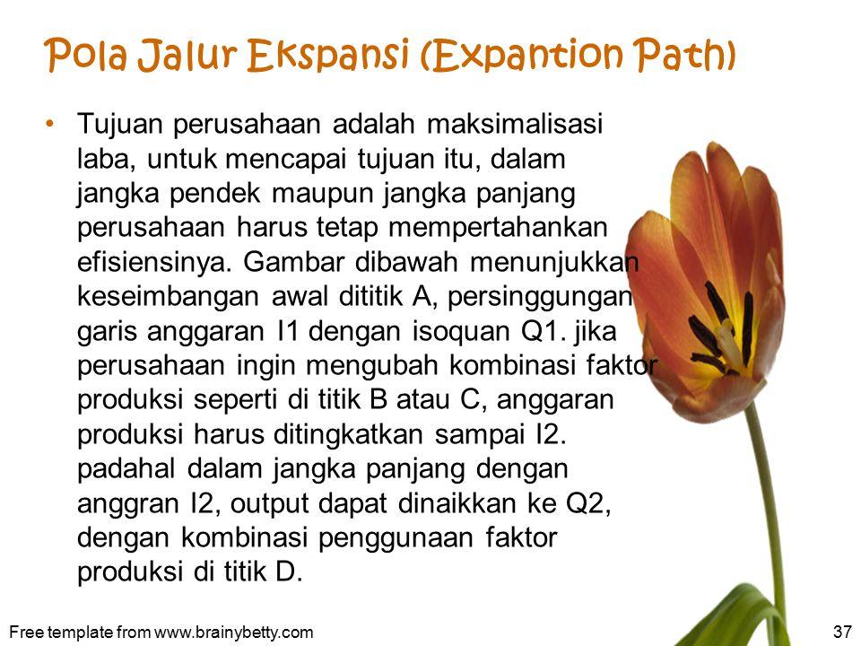 Pola Jalur Ekspansi (Expantion Path)