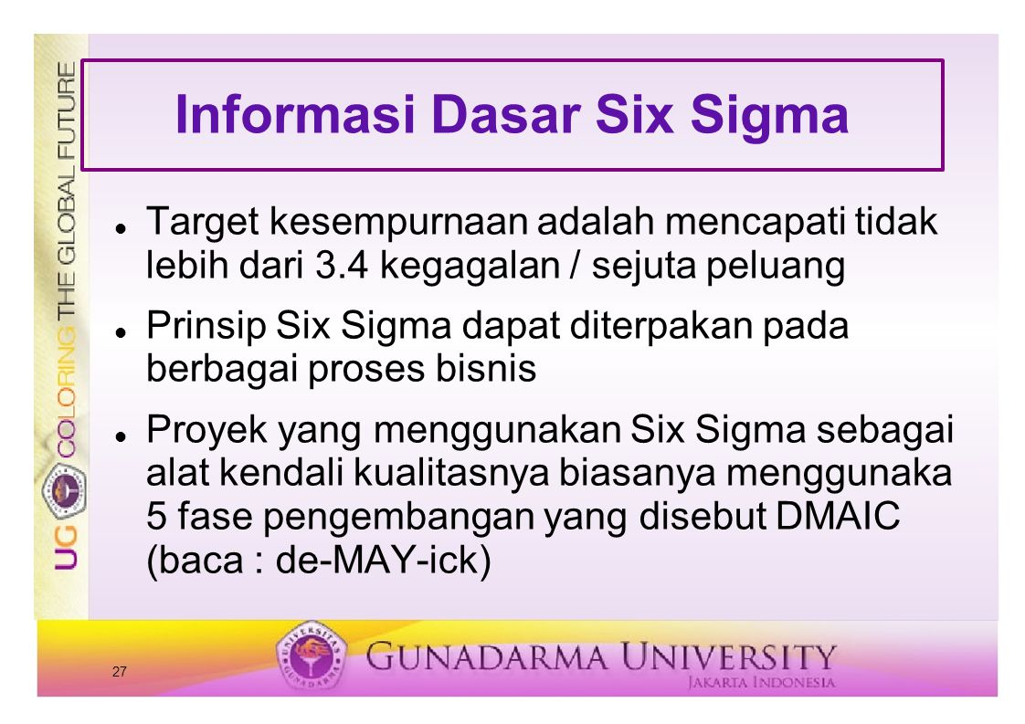 Informasi Dasar Six Sigma