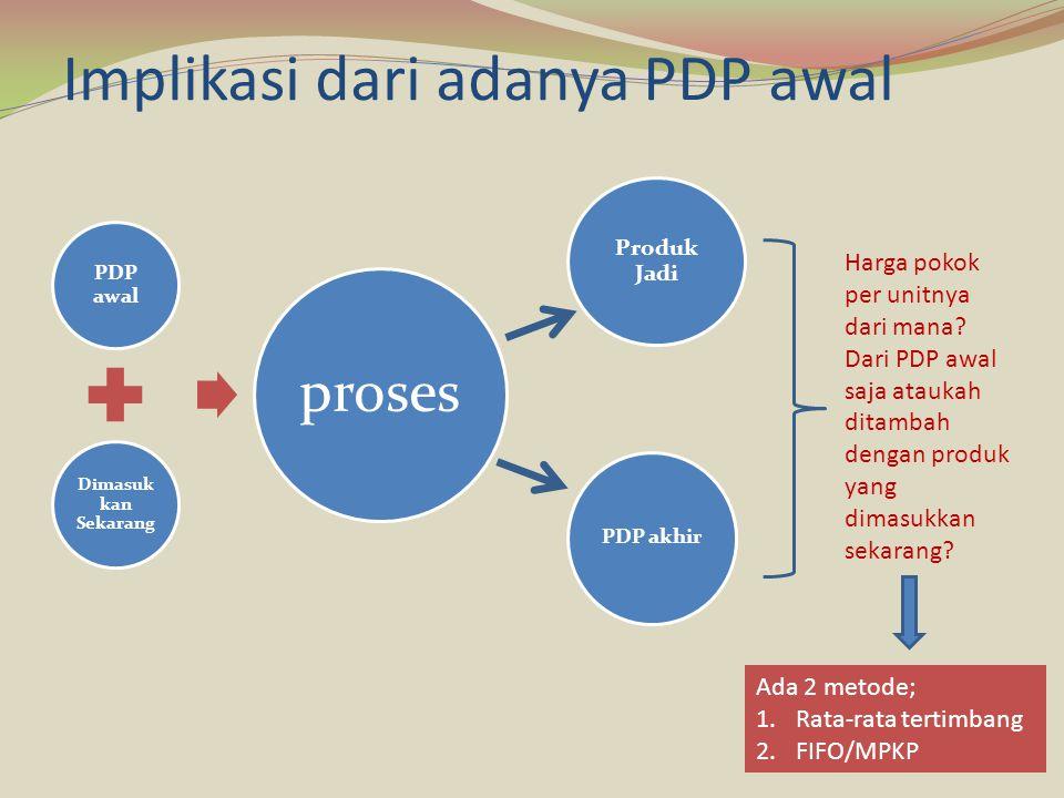 Implikasi dari adanya PDP awal